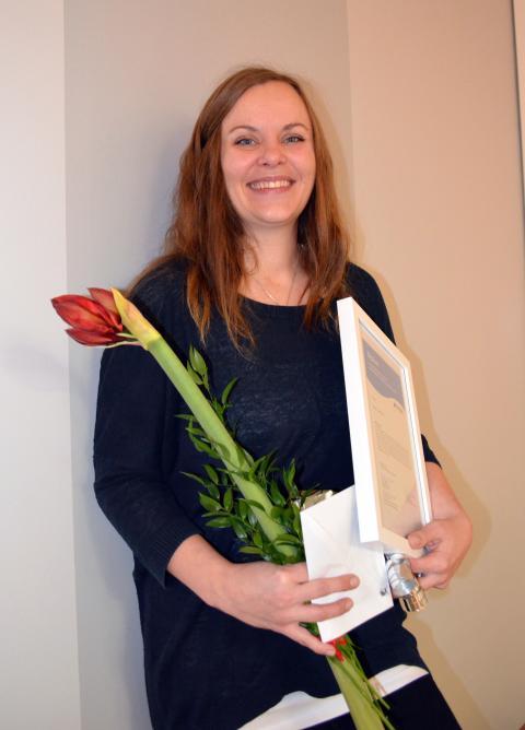 Jenny Lindblom vald till årets omvårdnadshandledare