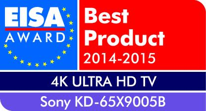 European 4K Ultra HD TV of the year 2014-2015: KD-65X9005B