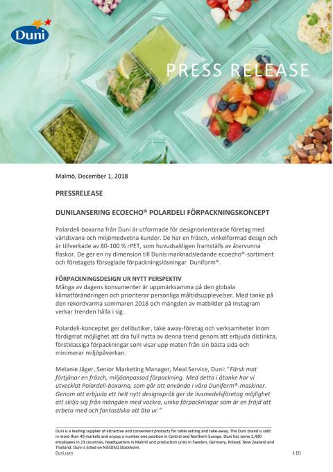 Press Release Polardeli