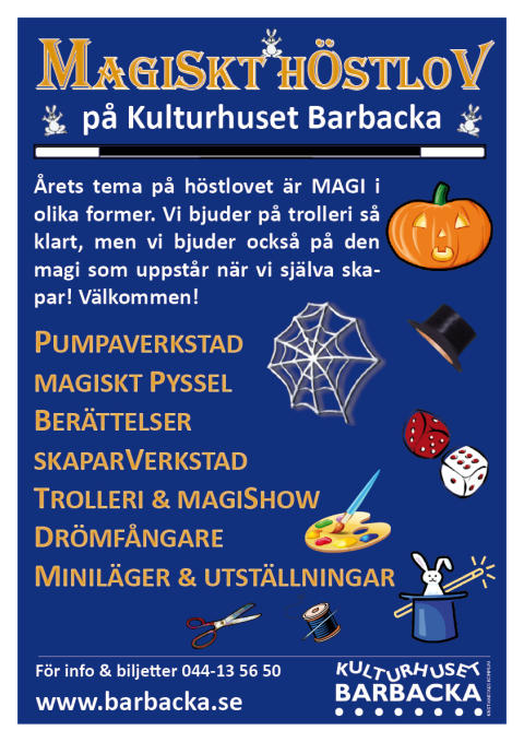 Magiska höstlovsaktiviteter på Kulturhuset Barbacka