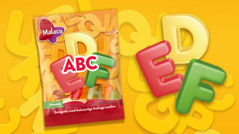 Malaco ABC – godis i bokstavlig och fruktig mix!