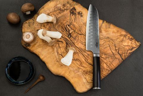 Knives_EGO-VG10_Santoku-Knife-EVG18SK_w_mushrooms_landscape