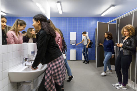 Tork PeakServe® in washroom environment