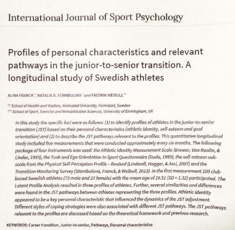Fredrik har publicerat ny forskning inom karriärövergångar