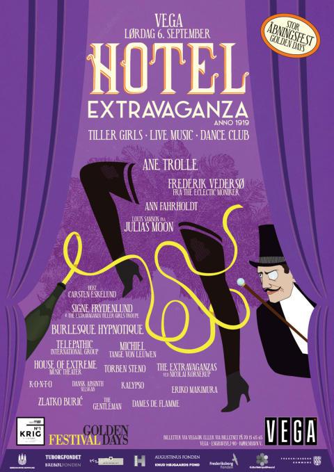 Kære gæst til Hotel Extravaganza-festen - Her er programmet!