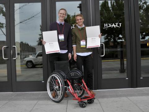Tävlingsvinst med rullstolen