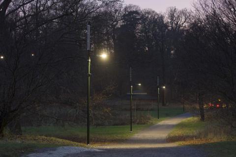 Leading Light connected lighting solution Djurgarden, Sweden