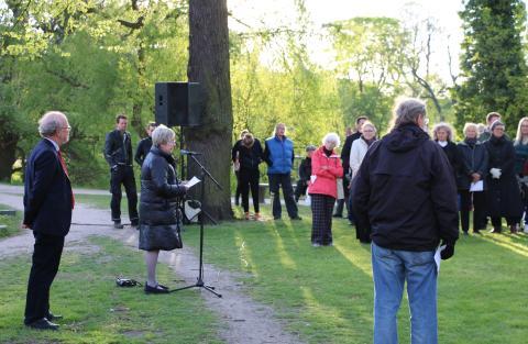 Kulturminister Marianne Jelved holder tale ved 4. maj 2014