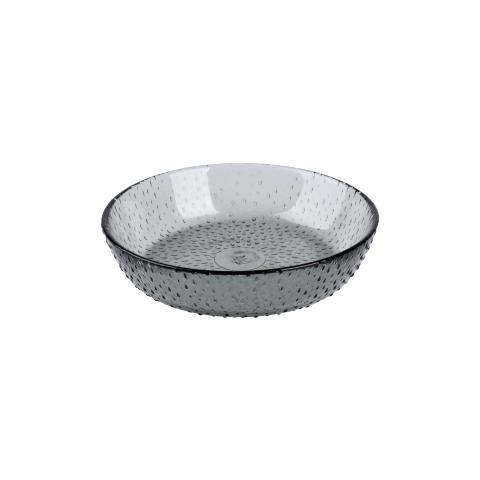 aida - RAW glass beads, isasiet, smoke, D 16 cm, H 3,5 cm, vejl. pris 59,- DKK