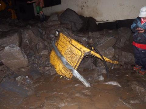Flood resilience project hit by fatal landslide