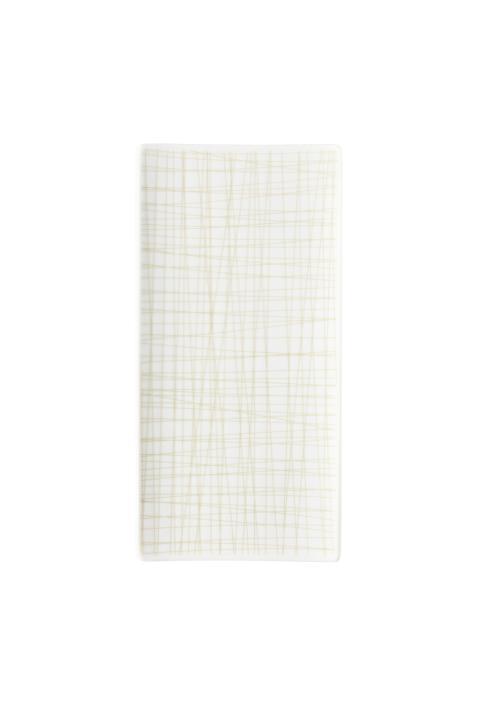 R_Mesh_Line Cream_Platter flat 26 x 13 cm