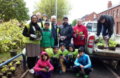 WORKING TOGETHER: King Street East Residents' Association organised a community planting day
