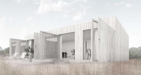 Koncept för bygglovsfritt komplementhus 25 kvm.