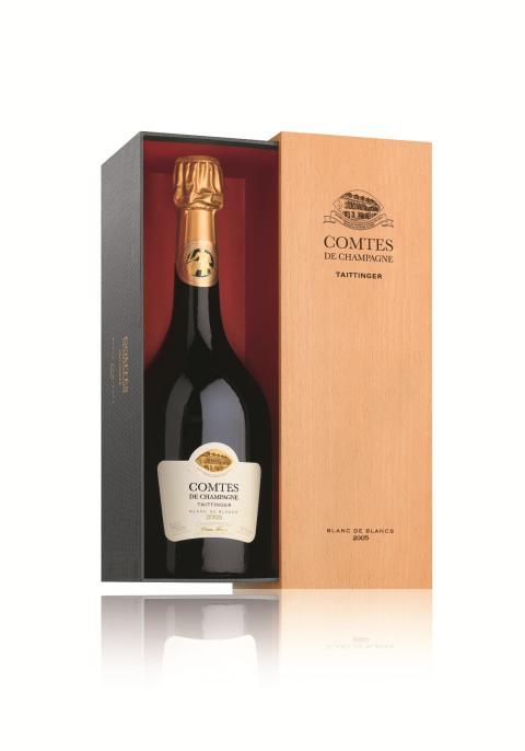 97 poäng till Comtes de Champagne 2005 från Taittinger