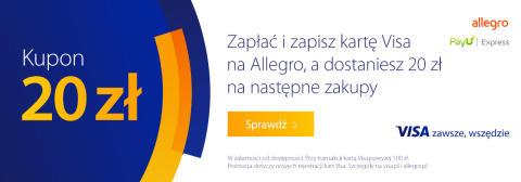 20 zł rabatu na świąteczne zakupy we wspólnej promocji Visa z Allegro i PayU