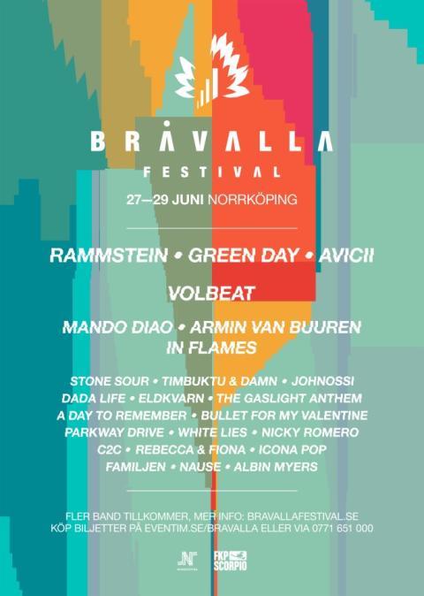 THE GASLIGHT ANTHEM, Dada Life, Nicky Romero och Albin Myers till Bråvalla festival!