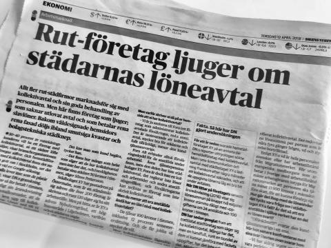 RUT-företag ljuger om kollektivavtal