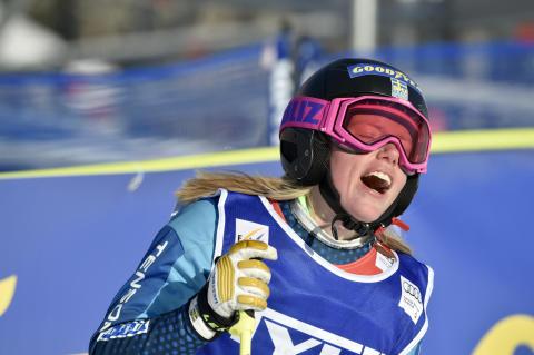 Sandra Näslund efter finalen den 14 februari