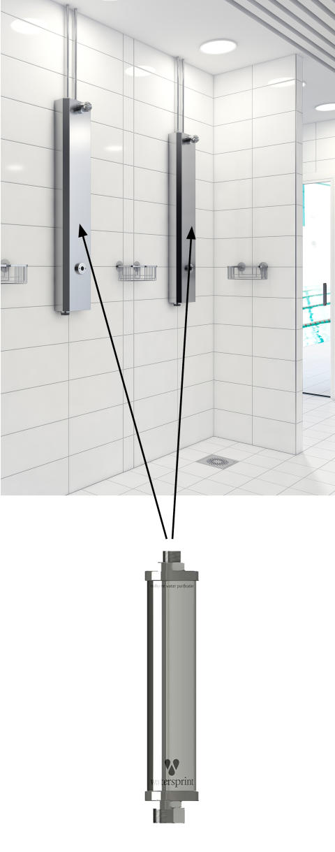 FM Mattsson's shower panels combined with Watersprints UV LED technology