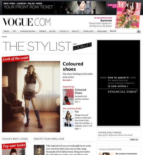 Looklet i samarbete med VOGUE - The Stylist