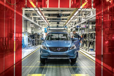 Den miljonte byggda Volvo XC60 kom till Sverige