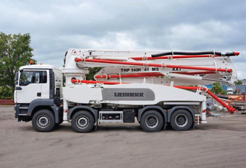 Innovative Truck-Mounted Concrete Pump from Liebherr on Show at the MaskinExpo 2014 in Sweden
