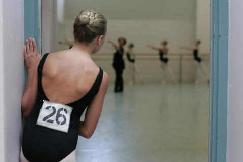 Ballet Girl in Doorway