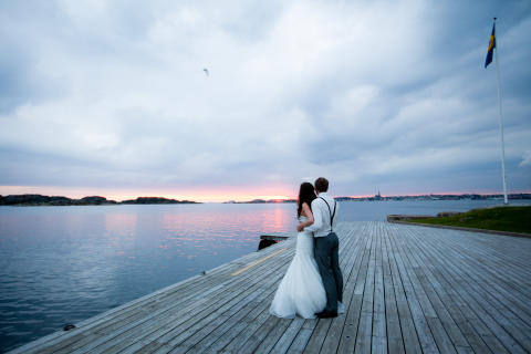 Bröllop vid havet västkusten