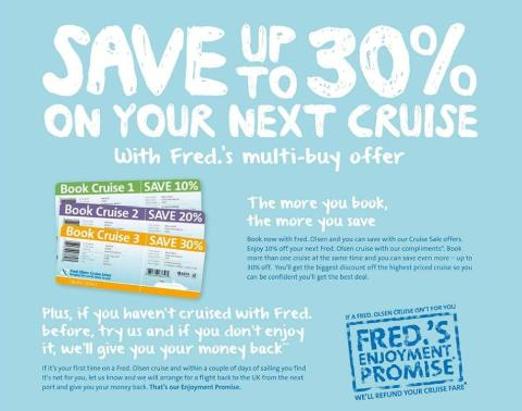 Fred. Olsen Cruise Lines promotes 'Turn of Year' sales campaign –  featuring Mr. Fred. Olsen Junior himself!