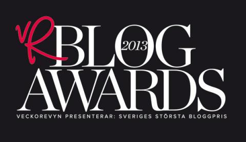 Sveriges bästa bloggar nominerade i VeckoRevyn Blog Awards 2013