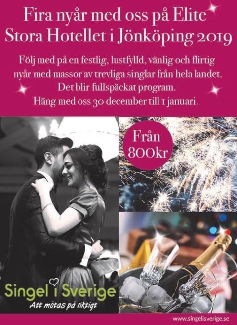 Ingen skall behöva sitta ensam i Nyår! Därför ordnar vi ett 2 dagars arrangemang på Elite Stora Hotellet i Jönköping.