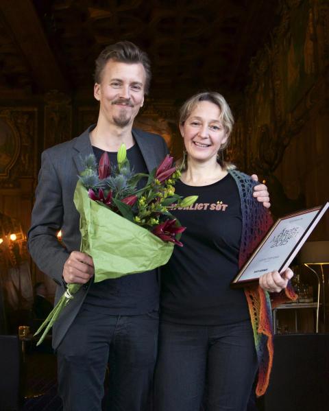 Årets Werner Paul Svensson med Årets Matvän Lotta Fabricius Kristiansen.