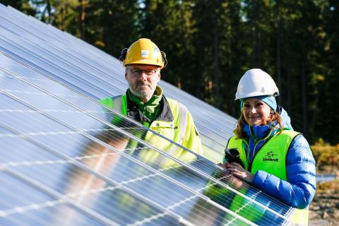 Caroline Hildahl och Pär Nordström, Jämtkraft, Östersund Solpark