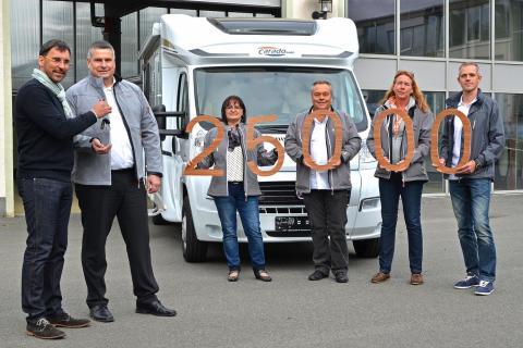Jubiläums-Fahrzeug rollt in Sachsen vom Band: Glücklicher reisen mit Carado