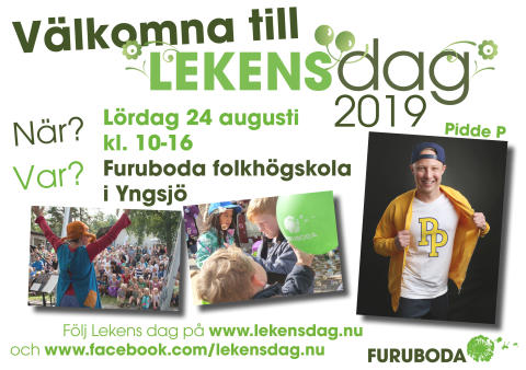 Pidde P till Lekens dag på Furuboda 24 augusti 2019