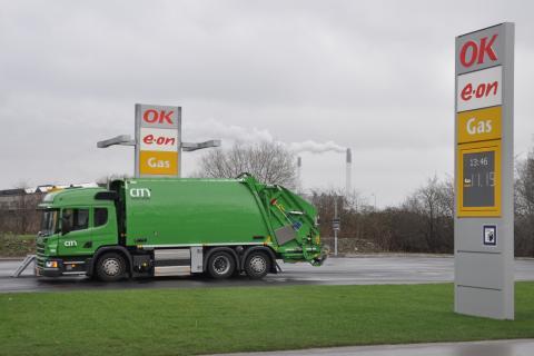 Scania leverer renovationslastbiler med gasmotor til København