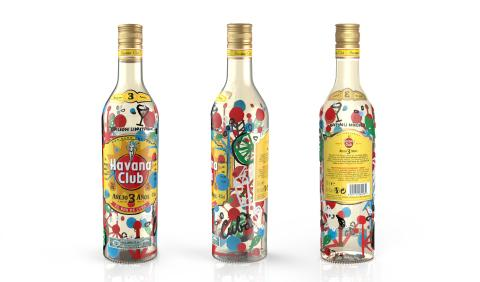 Das farbenfrohe Design der Havana Club Limited Edition sorgt für Aufmerksamkeit