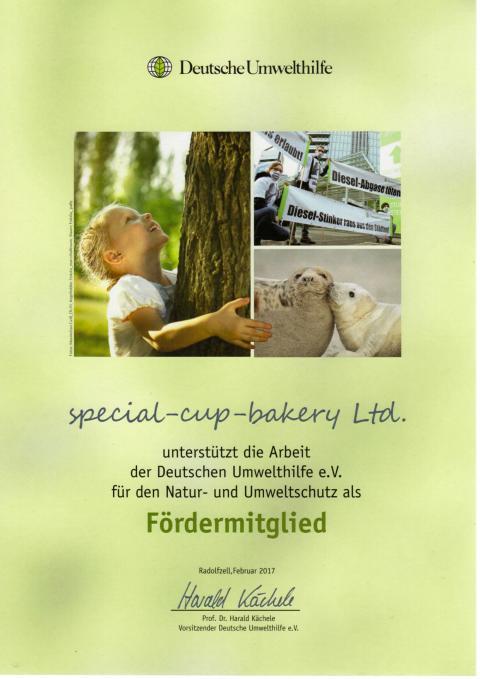 Wir denken und handeln umweltbewusst und unterstützen die Deutsche Umwelthilfe!