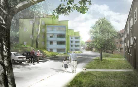 Svenska Bostäder bygger nya stjärnhus i Vällingby