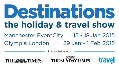 See us at the Destinations Show at London Olympia in early 2015