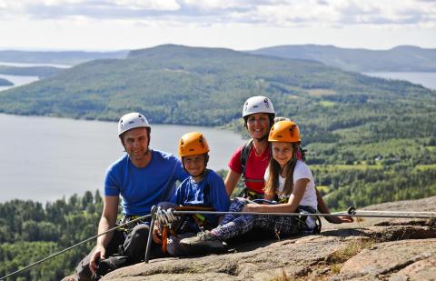 Via Ferrata på Skuleberget - äventyr för hela familjen