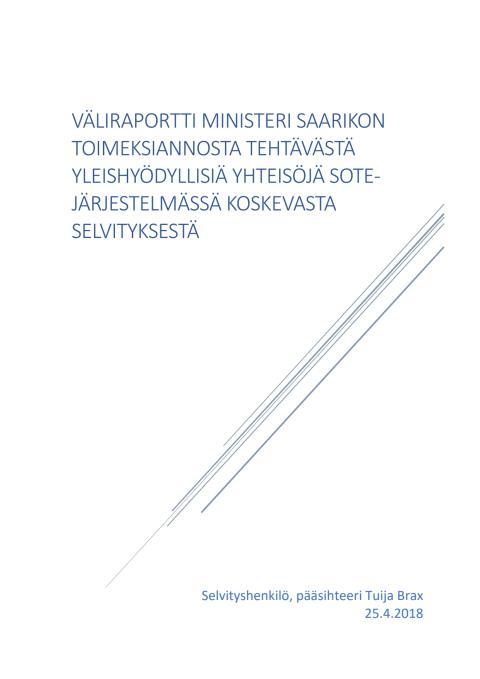 Järjestöjen sote-selvitystyön väliraportti
