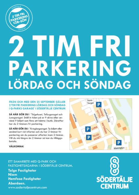 2 tim fri parkering lördag och söndag