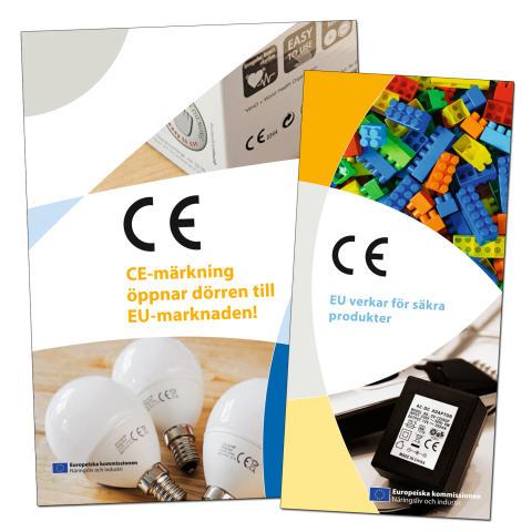Två nya broschyrer om CE-märkning