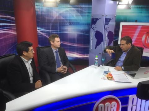 Gävleprofessor fick 50 minuter prime-time TV i Peru