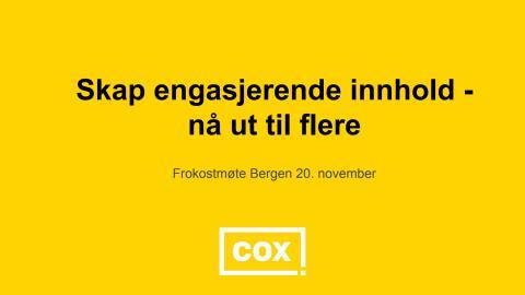 Cox presentasjon