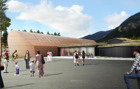 Martinsons levererar trä till norskt konstgalleri