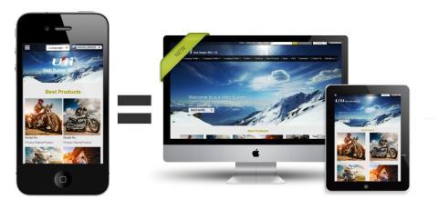 網站大師推出最新版行動裝置響應式版型設計