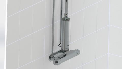 Watersprint insats monterad på duschblandare