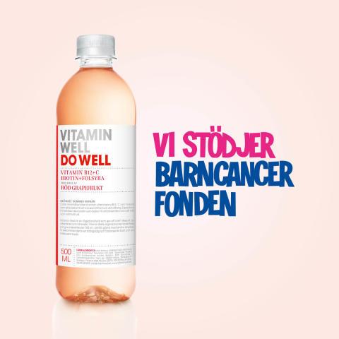 Vitamin Well fortsätter sitt succésamarbete med Barncancerfonden